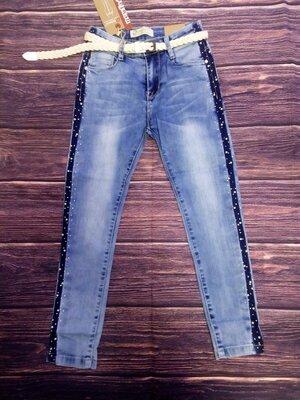 Стильные джинсы скинни 128-152. Венгрия Seagull