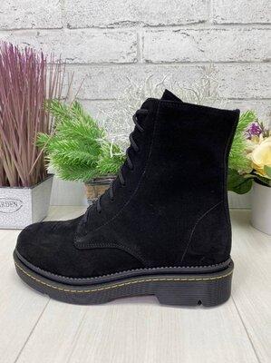 Демисезонные ботинки, натуральная кожа и замш, 36-41