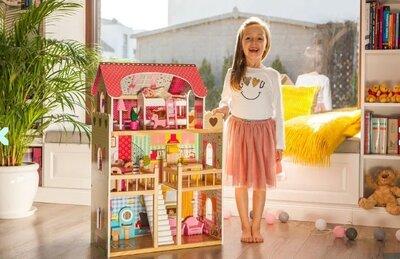 Домик барби кукольный домик игровой EcoToys 2 кукли в подарок польша