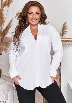 Женская рубашка, свободного кроя. Размер 48-50,52-54,56-58,60-62,64-66