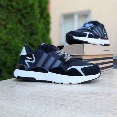 Кроссовки мужские Adidas Nite Jogger, черные с белым