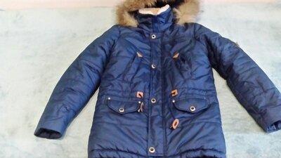 Зимняя куртка удлиненная на подростка