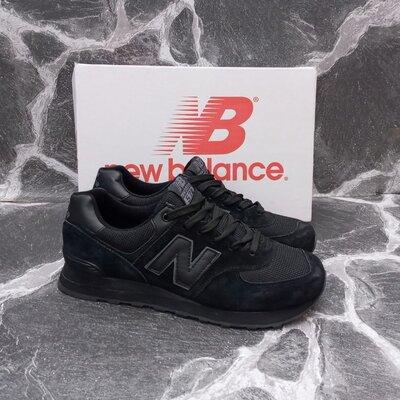 Мужские кроссовки New Balance 574 черные,серые.синие,замшевые