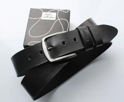Мужской кожаный ремень для джинсов La vita черный
