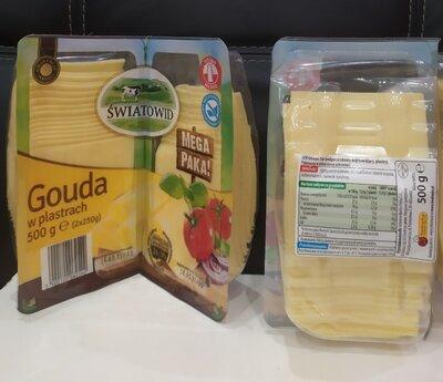 Продано: Сыр Гауда нарезка 500 г Польша