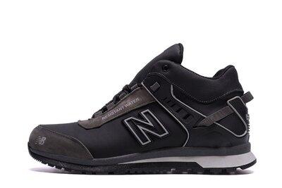 Продано: Мужские зимние кожаные кроссовки ботинки NB Clasic Black