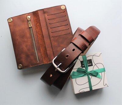 Мужской подарочный набор Pino коричневый