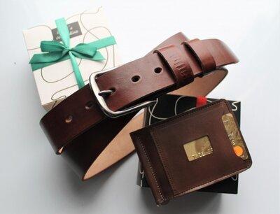 Мужской подарочный набор Set коричневый