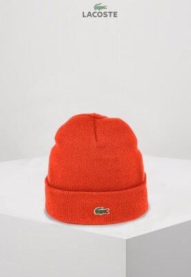 Lacoste шапка унисекс Оранжевая