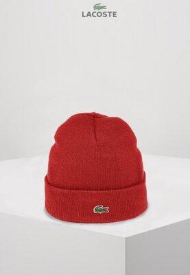 Lacoste шапка унисекс Красная