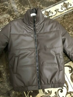 Куртка 3 цвета Эко кожа шикарного качества силикон 150 Размеры 1 42-44 2 46-48 Видео обзор