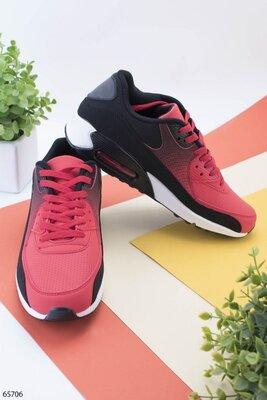 Мужские кроссовки в черно-красном цвете 40-45