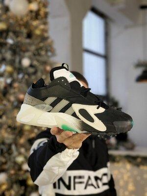 Мужские Кроссовки Adidas Streetball Black aaa 40-41-42-43-44