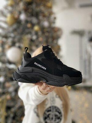 Кроссовки Balenciaga Triple-S Clear Black ААА 36-37-38-39-40-41-42-43-44-45