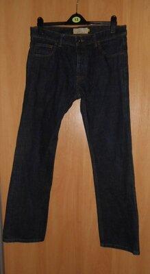 мужские джинсы некст 34 размер темно-синие, 100 % коттон не тянутся . длина-108. шаговая-84, посадк