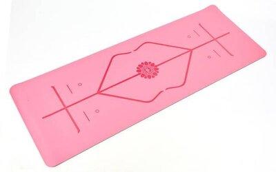 Коврик для фитнеса и йоги двухслойный с разметкой 8307-2 размер 1,83х0,68м толщина 5мм