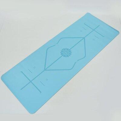 Коврик для фитнеса и йоги двухслойный с разметкой 8307-6 размер 1,83х0,68м толщина 5мм