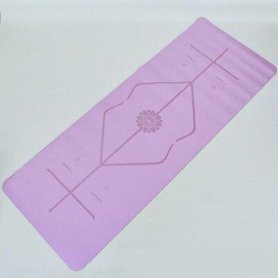 Продано: Коврик для фитнеса и йоги двухслойный с разметкой 8307-3 размер 1,83х0,68м толщина 5мм