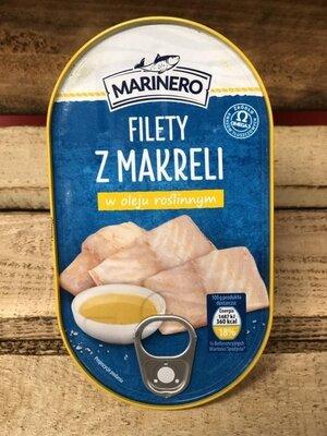 Marinero Filety Makreli w Oleju филе скумбрии в подсолнечном масле, 170 гр.