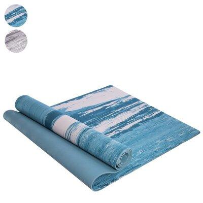 Коврик для фитнеса и йоги резиновый 2316 размер 1,83х0,61м толщина 4мм