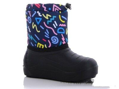 Зимние дутики сноубутсы непромокаемые для девочек и для мальчиков