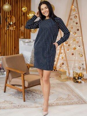 Стильное платье в вертикальную полоску В 3159 3 цвета