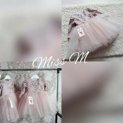 Нарядні дитячі сукні пишні пудрові