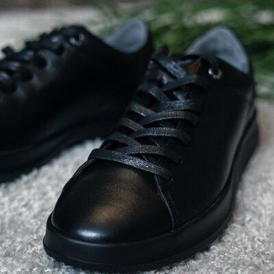 Новинка мужские кожаные кеды кроссовки кроссы спортивные туфли на шнурках весенние осенние стильные