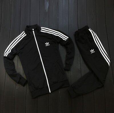New Логотип вышит Adidas Мужской спортивный костюм/Кофта штаны/сумка-мессенджер.Весна-осень