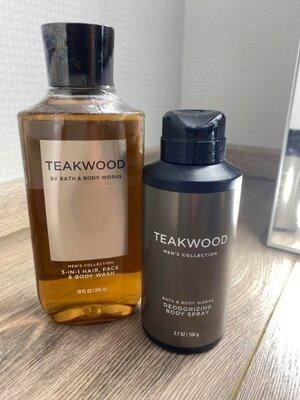 Мужской набор шампунь и гель для душа 2-в-1 TEAKWOOD Bath&Body Works