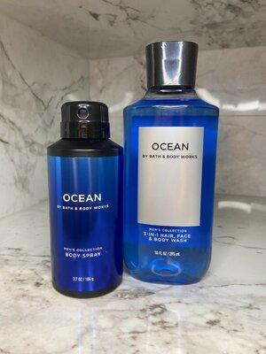 Мужской набор шампунь и гель для душа 3-в-1 OCEAN Bath&Body Works