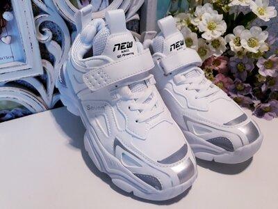 Белые кроссовки со светоотражающими вставками ф-мы свт 32 размер