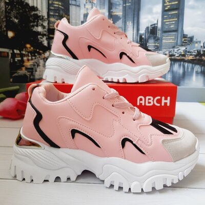 Розовые кроссовки 36-39 размеры
