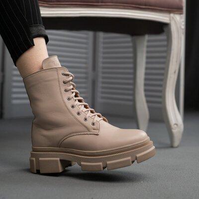 Женские деми ботинки Yuves на байке с нат. кожи. Качественные