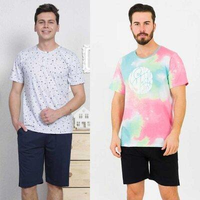 Пижама мужская футболка и шорты