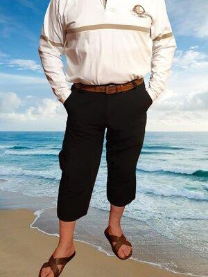Черные мужские бриджи, длинные шорты Watsons, 5 карманов, талия 94 см