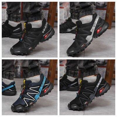 Кроссовки мужские 18171 Salomon Speedcross 3, черные 4 цвета