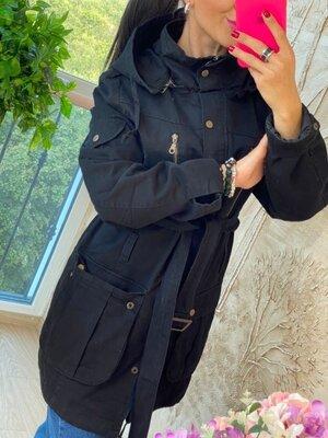 Продано: Куртка коттон демисезон-- черный цвет