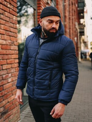 Продано: Зимняя мужская куртка с капюшоном. По Акции ~ Зимова чоловіча куртка з капюшоном