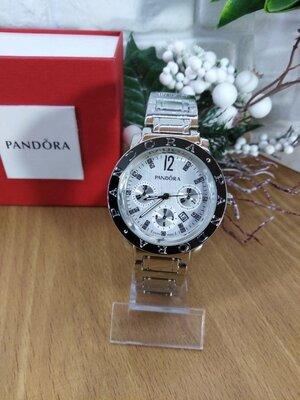 Часы женские наручные Pandora Пандора серебро три циферблата