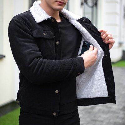 Мужская вельветовая демисезонная куртка