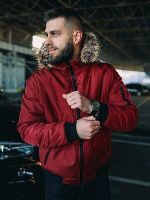 Продано: Куртка зимняя с мехом, на холлофайбере 250