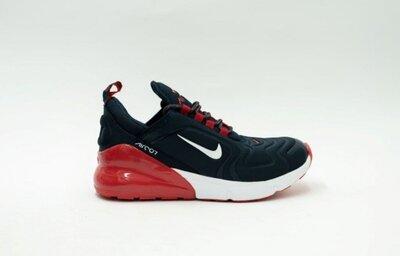 Мужские кроссовки Nike Air max 270 синие с красным