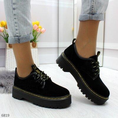 Натуральные замшевые туфли в стиле dr. Martens, туфли мартинсы, туфли мартенсы 36,41р код 6819