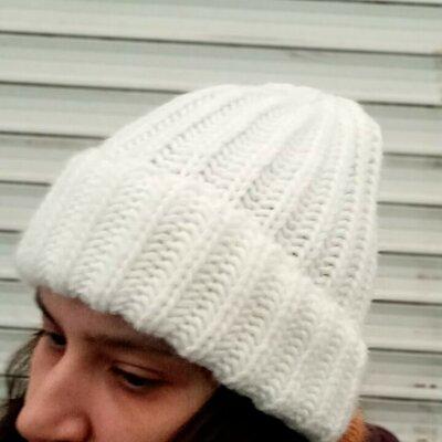 Стильная шапка бини шапка рубчик с отворотом трансформер унисекс 25% шерсти альпака