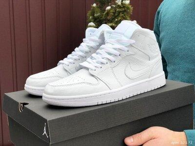 Nike Air Jordan кроссовки мужские демисезонные белые 10171