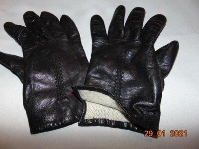 Кожание стильние перчатки H&M.с-м-л