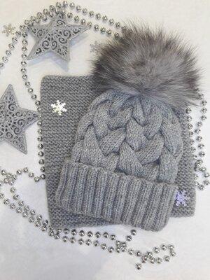 Продано: Комплект вязаний шапка снуд