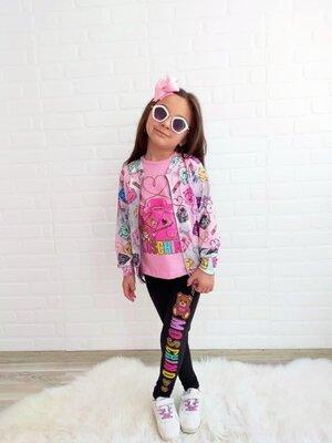 Модный костюм 3-ка на девочку Турция, детский спортивный костюм, дитячий спортивний костюм