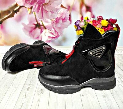 Деми ботинки р-р 32-37 черные, фирма kimbo-o